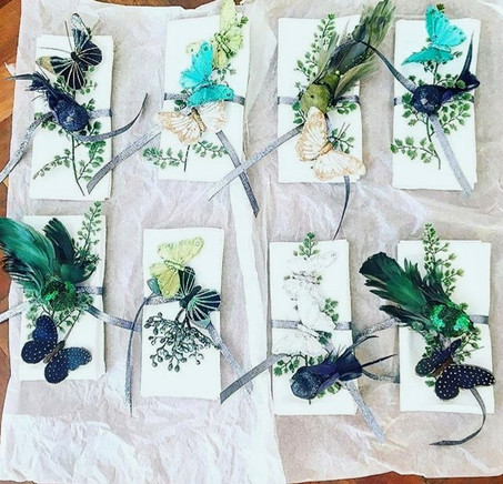 A Forest Christmas theme for these place settings