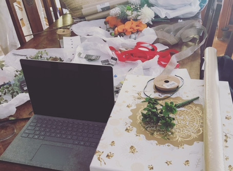 My dining room table is my office!