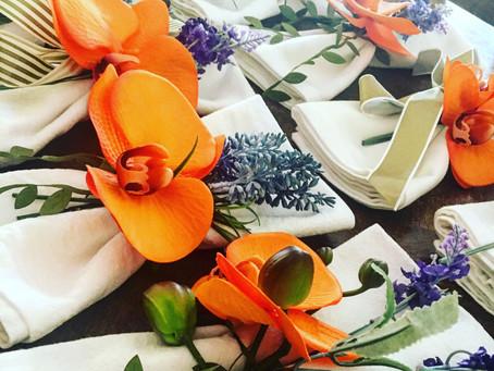Olive, Orange & Violet