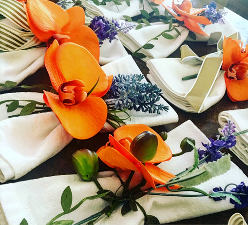 Serviettes for a NYE dinner party