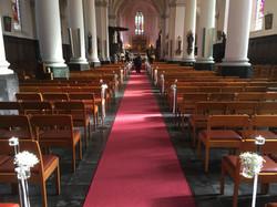 Bloemen kerk decoratie