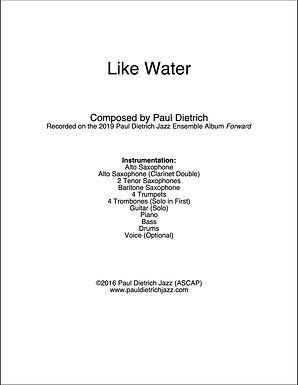 Like Water Score & Parts (PDF) - Grade 5
