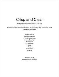 Crisp and Clear Score & Parts (PDF) - Grade 3