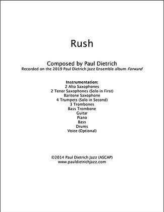 Rush Score & Parts (PDF) - Grade 6