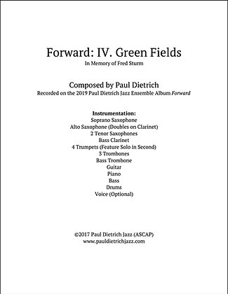 Forward: IV. Green Fields Score & Parts (PDF) - Grade 5