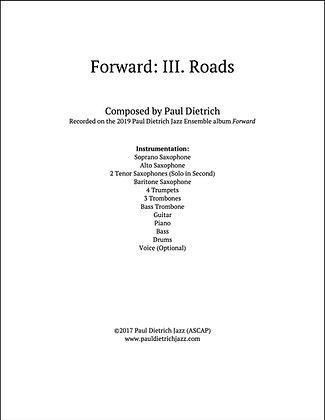 Forward: III. Roads Score & Parts (PDF) - Grade 6