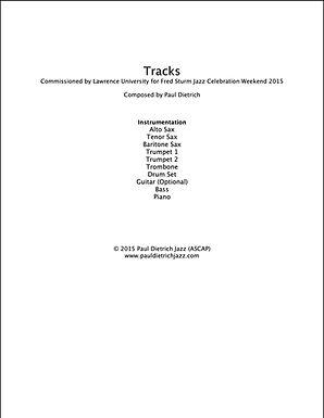Tracks (Mini Big Band) Score & Parts (PDF) - Grade 3