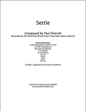 Settle Score & Parts (PDF) - Grade 5