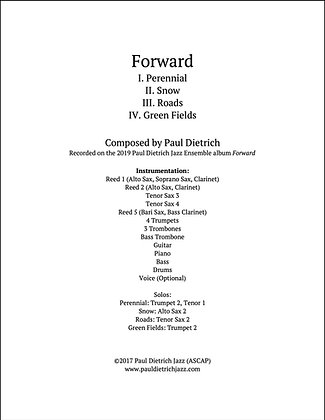 Forward COMPLETE SUITE Score & Parts (PDF) - Grade 6