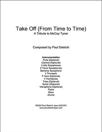 Take Off (From Time to Time) Score & Parts (PDF) Grade 2.5