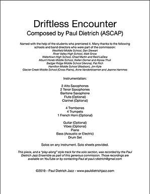 Driftless Encounter Score & Parts (PDF) - Grade 2