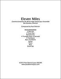 Eleven Miles Score & Parts (PDF) - Grade 3.5