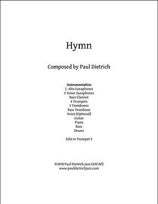 Hymn Score & Parts (PDF) - Grade 3.5