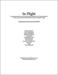 In Flight Score & Parts (PDF) - Grade 4.5