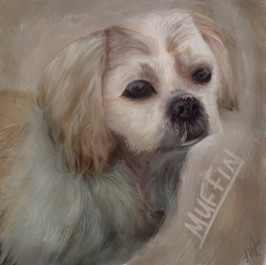 Dog Painting  (Time taken: 5 hours)
