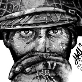 MSPaint - WW2 Soldier Speed Drawing  (Time taken: 3 hours) In Microsoft Paint only.