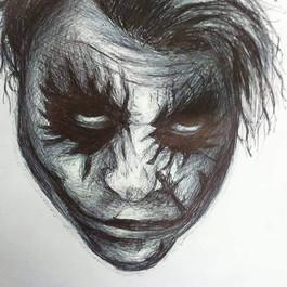 Biro Drawing of The Joker - H.Ledger  (Time taken: 4 hours)
