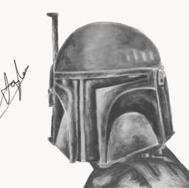 iPad Sketch of Boba Fett - StarWars
