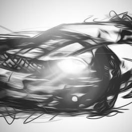 Abstract Car Painting / Sketch  (Time taken: 1 hour)