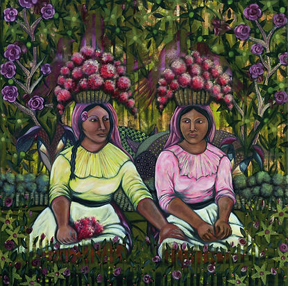 Pintura-Mujeres Mexicanas - Jazmin Sasky