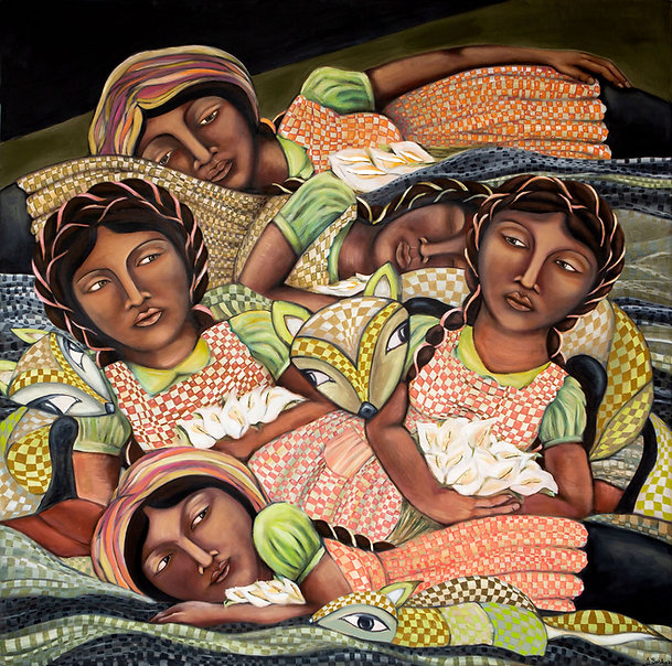 Sisterhood Women Painting - Jazmin Sasky