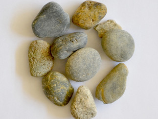River pebbles turned into something new