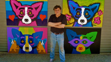 Blue Dogs inspired by George Rodrigue