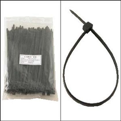 "220103BK 8"" Nylon Cable Tie 50lbs Black 100pk"