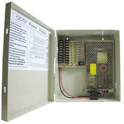 500911 DC12V 12Amps 9-Port Power Supply Box (UL)