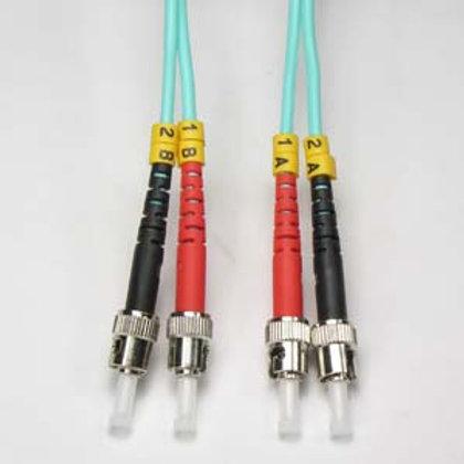 102646 1m ST-ST 10Gb 50/125 OM3 M/M Duplex Fiber