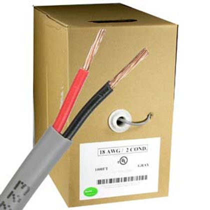 203705 1000Ft 18AWG/2 Power Wire CMR Gray