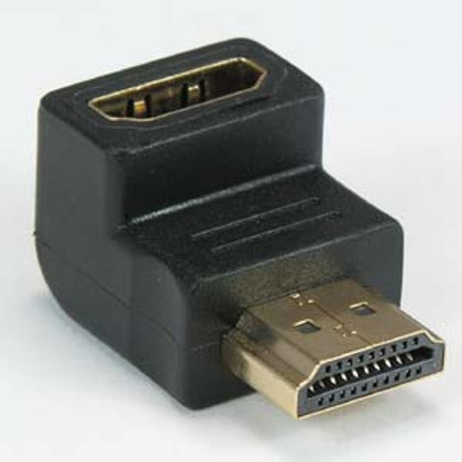 181246 HDMI M/F 270 Degree Adapter Gold Plated