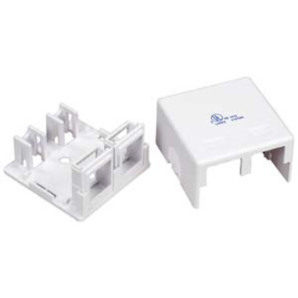 101912WT 2 Port RJ45 Surface Mount Box White (Box