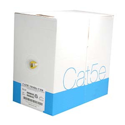 100900YW 1000Ft Cat.5E Solid Wire Bulk Cable CMR