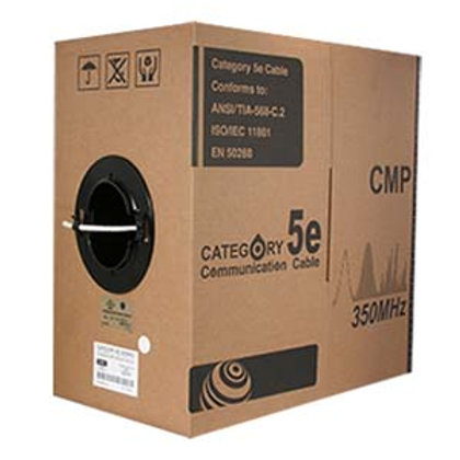 100932GY 1000Ft Cat.5E Solid Cable Plenum Gray
