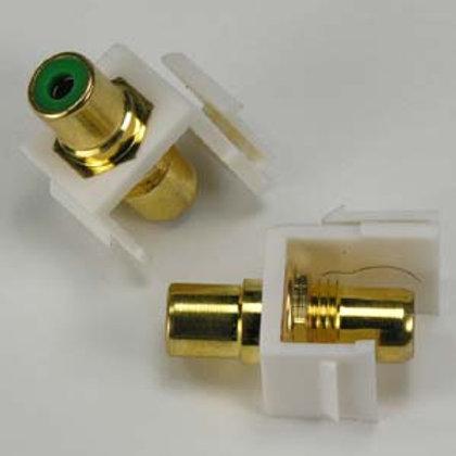 101817GWT RCA Green F/F Keystone Module White