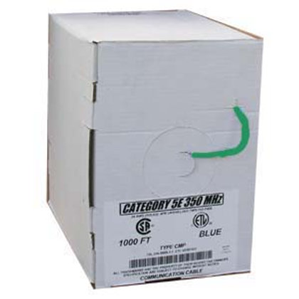 100905GN 1000Ft Cat.5E Solid Cable Plenum Green