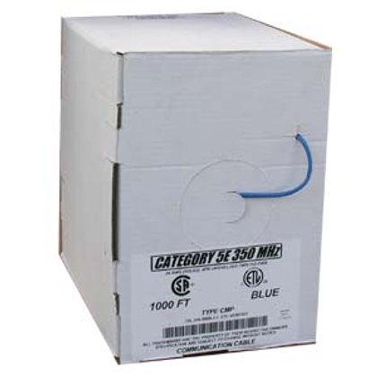 100905BL 1000Ft Cat.5E Solid Cable Plenum Blue