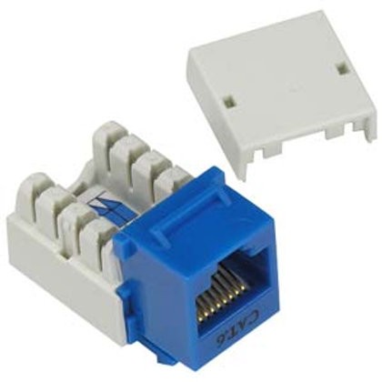 101703BL Cat.6 RJ45 110 Type Keystone Jack Blue