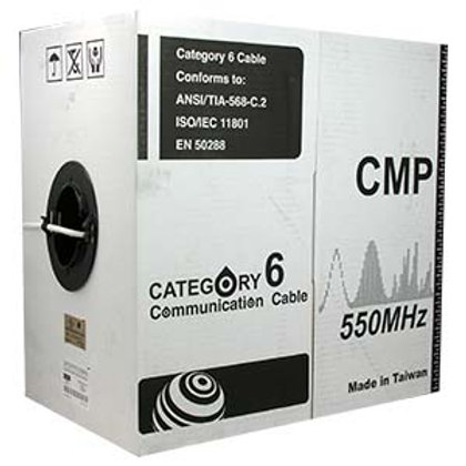 101011GY 1000Ft Cat.6 Solid Cable Plenum (CMP) Gra