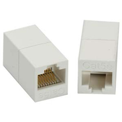 102001WT Cat.5E RJ45 Inline Coupler White