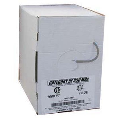 100905GY 1000Ft Cat.5E Solid Cable Plenum Gray