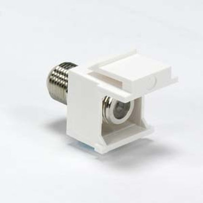 101812WT Snap-in F Type F/F Keystone Module White