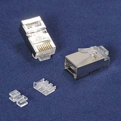 101233-20 RJ45 Cat.6A Shielded Plug Stranded 50 Mi