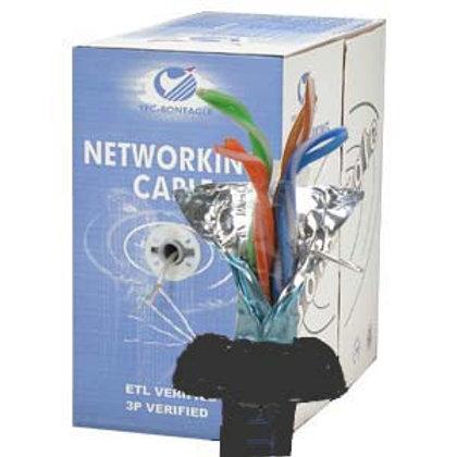 100903BK 1000Ft Cat.5E Stranded Wire Bulk Cable Sh