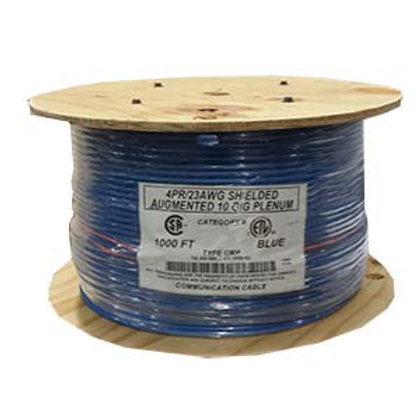 101012BL 1000Ft Cat.6 A Shielded Cable Plenum Blue