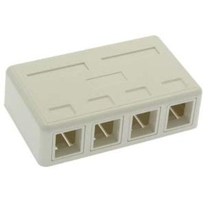 101915WT 4 Port RJ45 Surface Mount Box White (Box