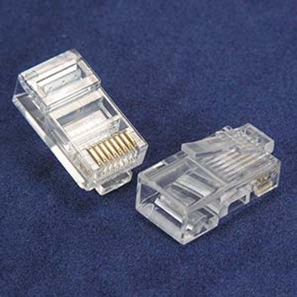101209-20 RJ45 Cat.5E Plug Solid 2Prong 6Micron 20