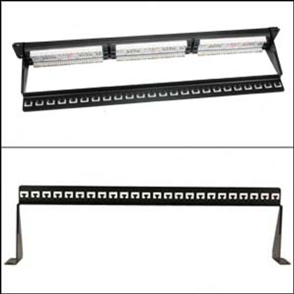 102219 19 inch 1U Support Bar Black