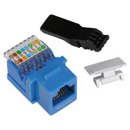 101605BL Cat.5E Tool Less Keystone Jack Blue